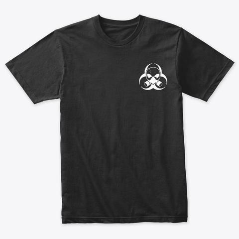 White Hazard Logo Vintage Black T-Shirt Front