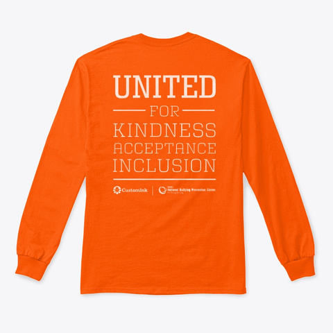 Unity Day 2019 Shirts Safety Orange T-Shirt Back