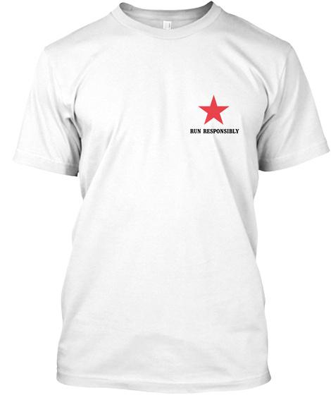 Marathon Monday T Shirt White T-Shirt Front