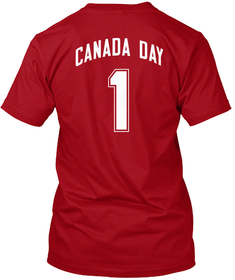 Canada Day 1 Deep Red T-Shirt Back