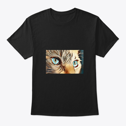 Cat's Eyes Black T-Shirt Front