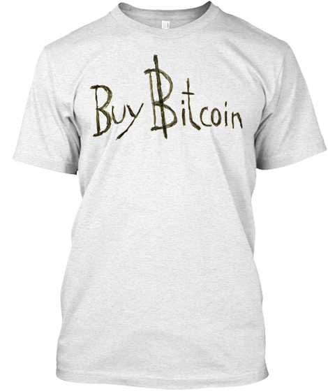 Buy Bitcoin Heather White T Shirt Front
