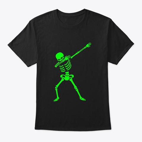 Dabbing Skeleton Shirt Halloween T Shirt Black T-Shirt Front