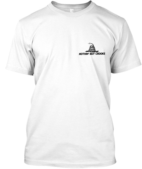 Nothin' But Crooks United Snakes Of America White T-Shirt Front