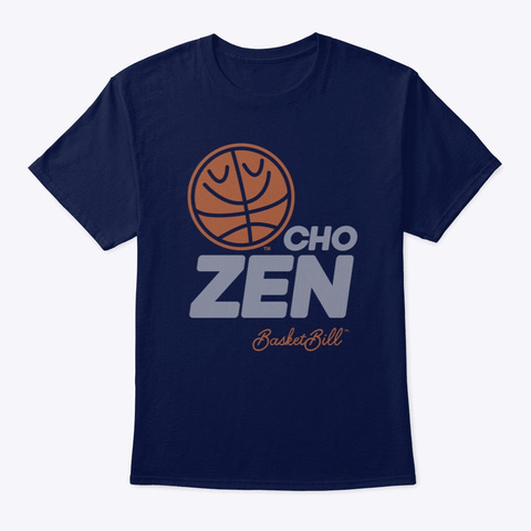 Basket Bill™ Cho Zen (Mp) Navy T-Shirt Front