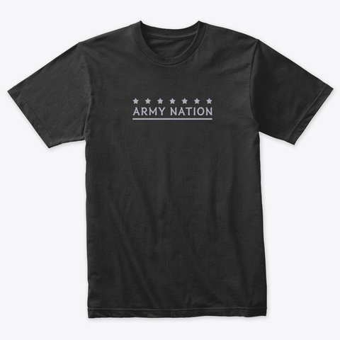 Army Nation (Bts) Vintage Black T-Shirt Front