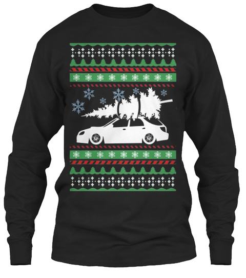 Subie Christmas Black T-Shirt Front
