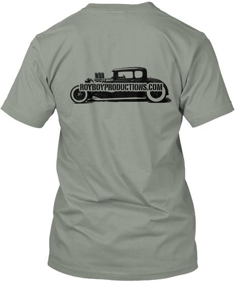 Royboy Stencil Model A  Adult Sizes Grey T-Shirt Back
