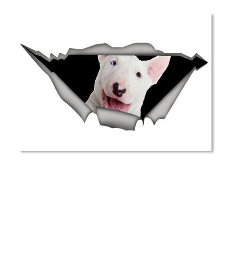 Bull Terriers Car Sticker White T-Shirt Front
