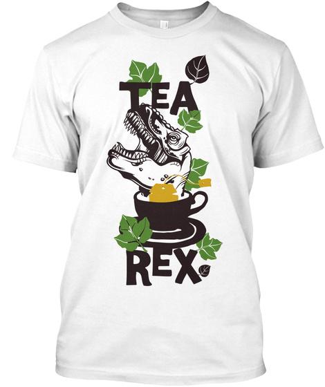 Tea Rex White T-Shirt Front