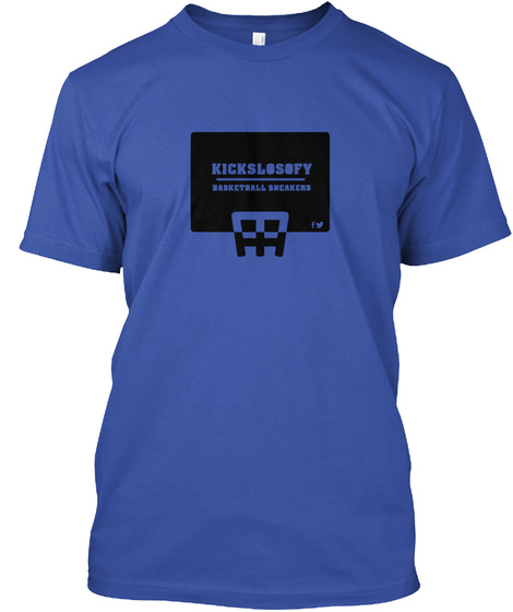 Kickslosofy Basketball Sneakers Royal T-Shirt Front
