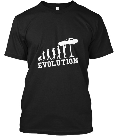 Evolution Black T-Shirt Front