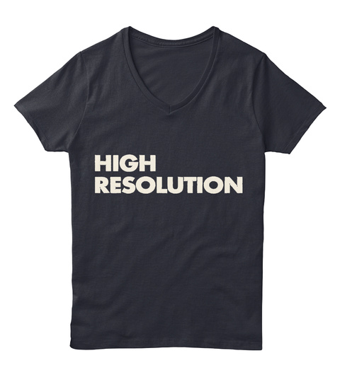 High Resolution Limited Series Tees Navy T-Shirt Front