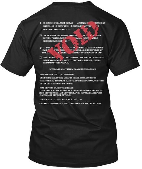 Void Black T-Shirt Back