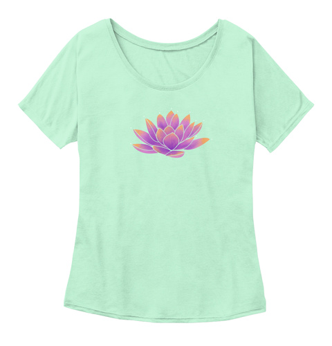 Flower Of Life, Lotus Flower T Shirt Mint  T-Shirt Front