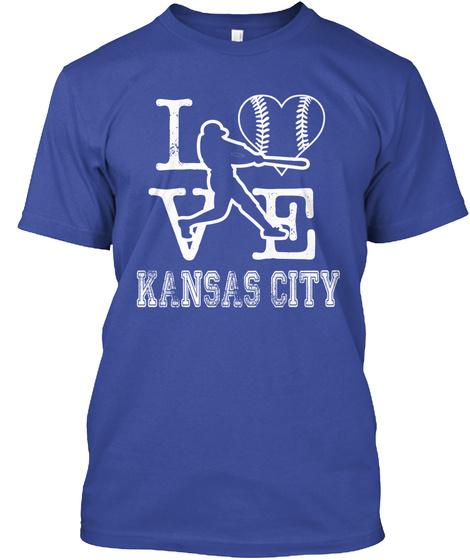 Love Kansas City Deep Royal T-Shirt Front