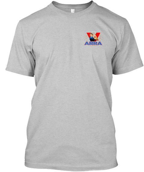 Arra Light Heather Grey  T-Shirt Front