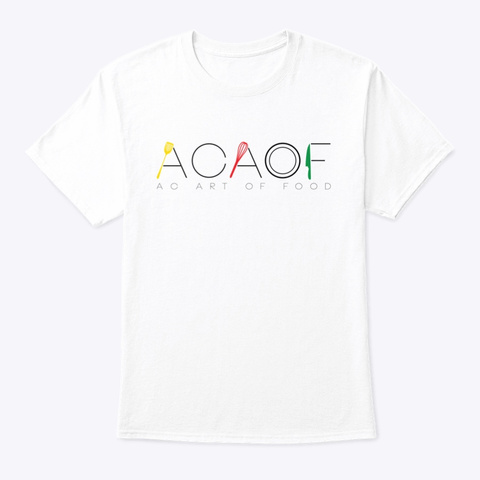 The Acaof Brand White T-Shirt Front