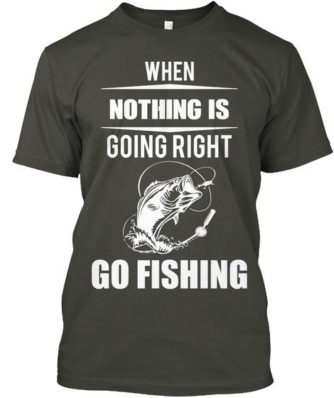 Fishing Tshirt Smoke Gray T-Shirt Front