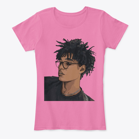 Black Educated Art   Cool Boy Short Hair True Pink T-Shirt Front