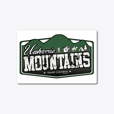 Uwharrie Mountains ® Nc Decal Standard T-Shirt Front