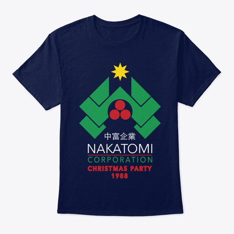 Nakatomi Corporation Christmas Party Navy T-Shirt Front
