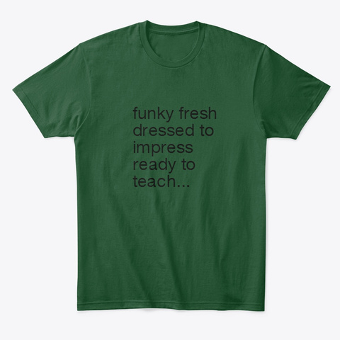 Throwback Tee Forest Green  T-Shirt Front