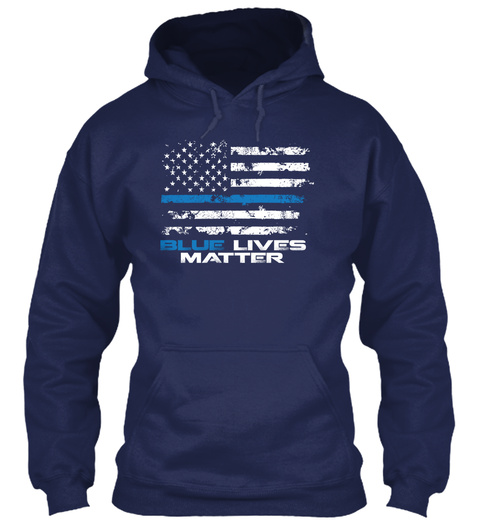 Blue Lives Matter  Navy T-Shirt Front