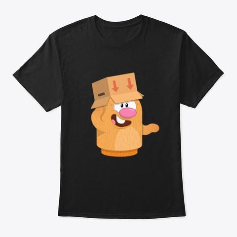 Box Head Black T-Shirt Front