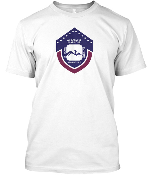 Wilderness Warriors Veterans Adventure Outdoor White T-Shirt Front