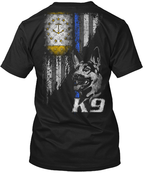 K9 Black T-Shirt Back
