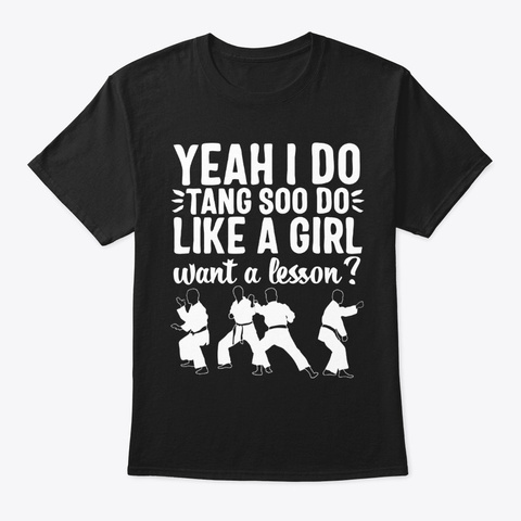 Tang Soo Do Martial Arts Shirt Black T-Shirt Front
