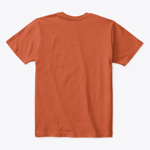 Mega Gruff Deep Orange  T-Shirt Back