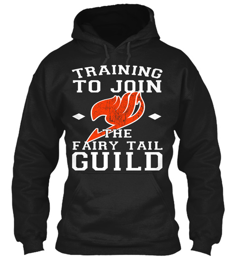 Training To Join The Fairy Tail Guild  Black T-Shirt Front