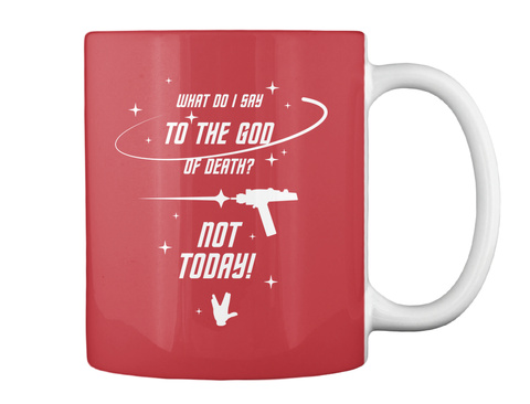 Brave Redshirt Mug [Int] #Sfsf Bright Red Mug Back