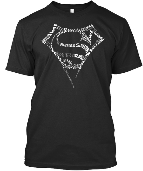 Black And White Sless Gear Black T-Shirt Front