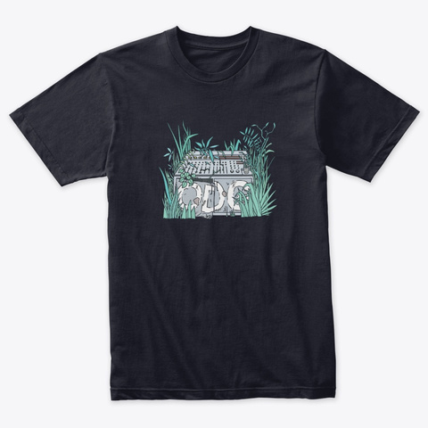 Organic Dub (Odg) Vintage Navy T-Shirt Front