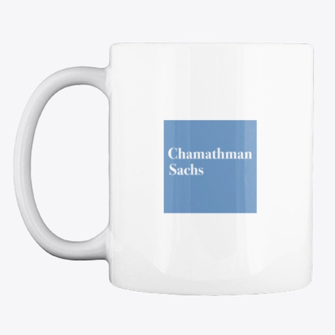 Chamathman  Sachs White T-Shirt Front