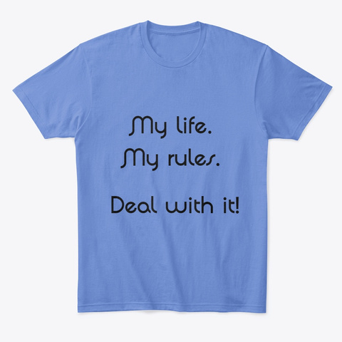 Deal With It Heathered Royal  T-Shirt Front