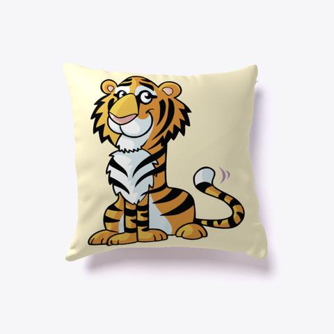 Tiger Novelty Pillow Light Yellow T-Shirt Front