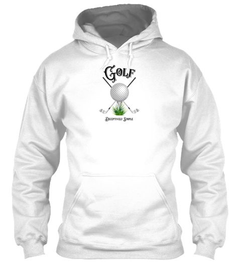 Golf Deceptively Simple White T-Shirt Front