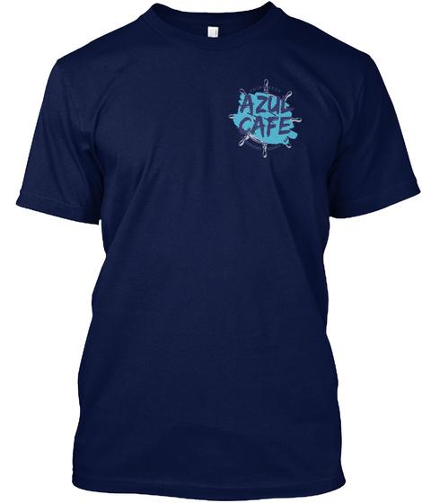 Azul Cafe Navy T-Shirt Front