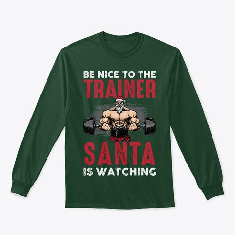 Trainer Santa Workout Christmas Shirt Forest Green T-Shirt Front