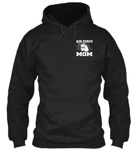 Air Force Mom Black T-Shirt Front