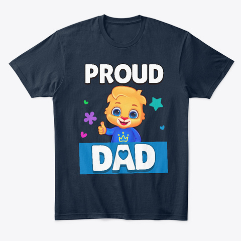 Lucas: Proud Dad New Navy T-Shirt Front
