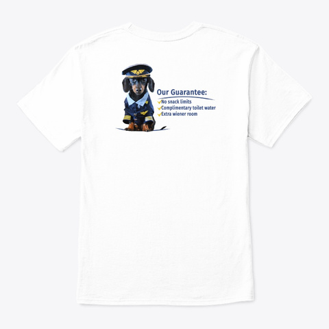 Wiener Airways White T-Shirt Back