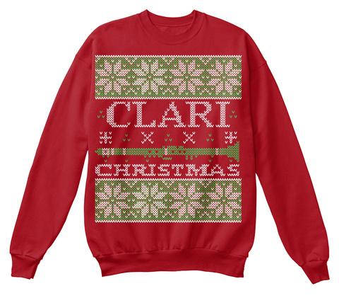 Clari Christmas  Deep Red  T-Shirt Front