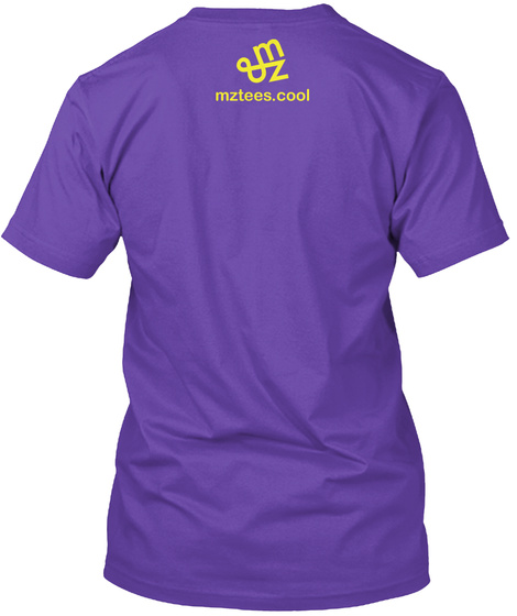 Zipped Tee Purple Rush T-Shirt Back