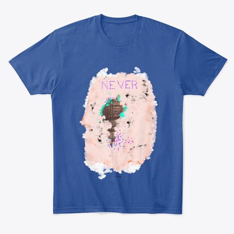 Never Shirt Deep Royal T-Shirt Front