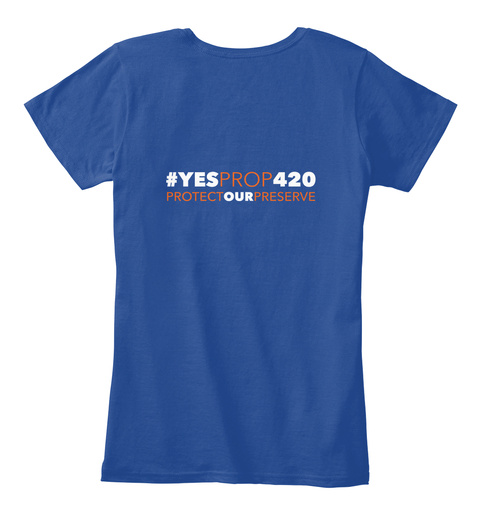 #Ye Sprop420 Women's 2 Deep Royal  Women's T-Shirt Back